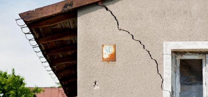 cracked home facade