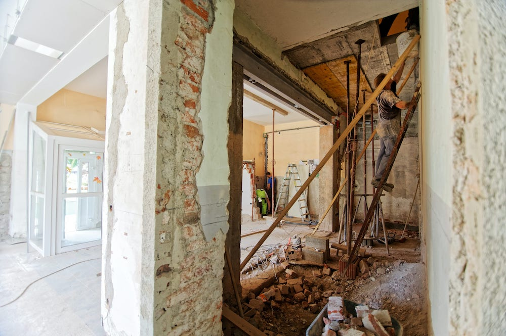 house during renovation