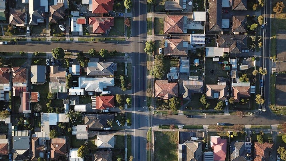 real estate birds eye view